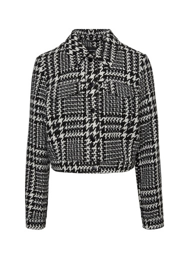 Vero Moda Vero Moda Kareli Kadın Ceket Siyah